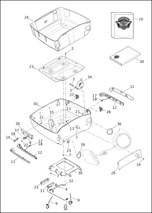 2019 Trike Models Parts Catalog|TOUR-PAK (BOTTOM