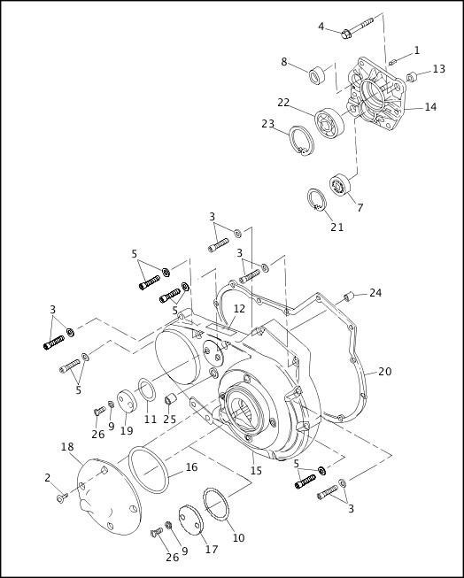 1993-1994 XLH Sportster Models Parts Catalog ACCESS DOOR