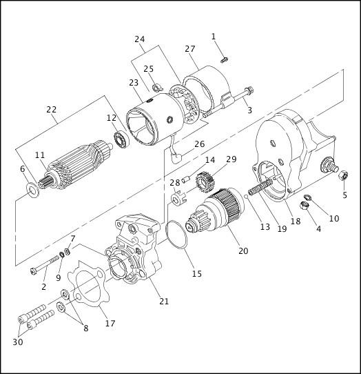 1993-1994 XLH Sportster Models Parts Catalog|STARTER MOTOR