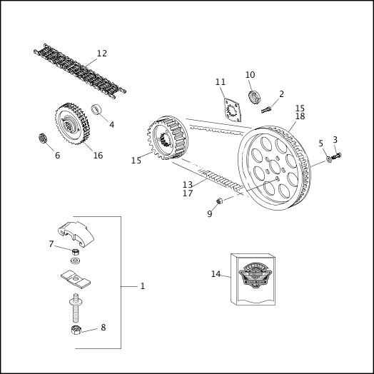 1993-1994 XLH Sportster Models Parts Catalog BELTS