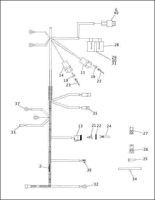 1993-1994 XLH Sportster Models Parts Catalog|MAIN WIRING