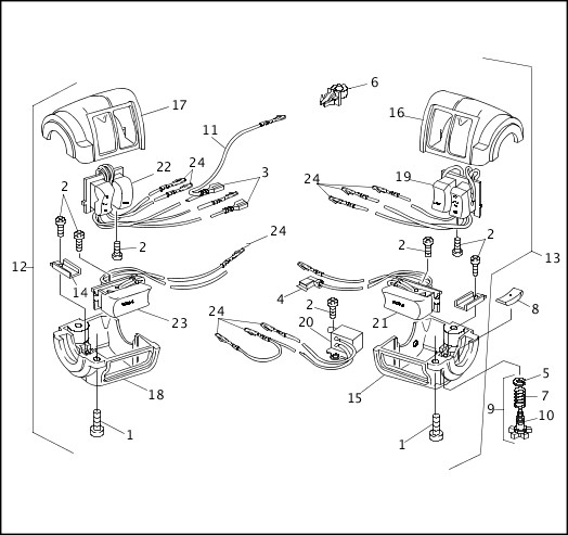1993-1994 XLH Sportster Models Parts Catalog HANDLEBAR