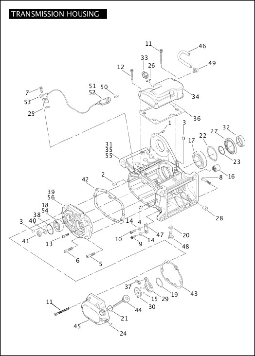 2004 Softail Models Parts Catalog|TRANSMISSION HOUSING (2