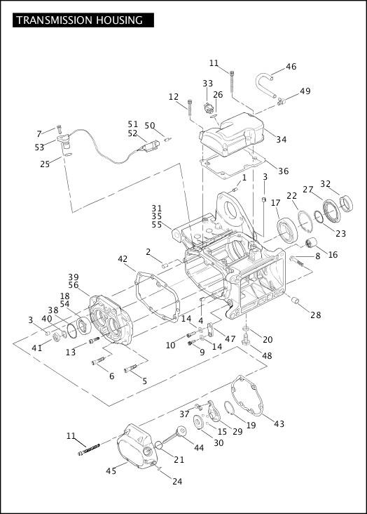 2004 Softail Models Parts Catalog|TRANSMISSION HOUSING (2