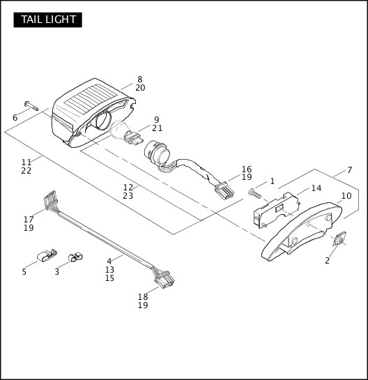 2006 Softail Models Parts Catalog|TAIL LAMP|Chester Harley