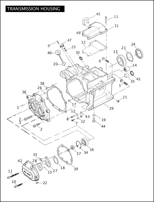 2007 Softail Models Parts Catalog|TRANSMISSION HOUSING (1