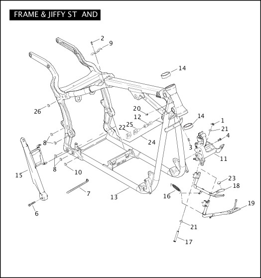 2007 Softail Models Parts Catalog|FRAME & JIFFY STAND