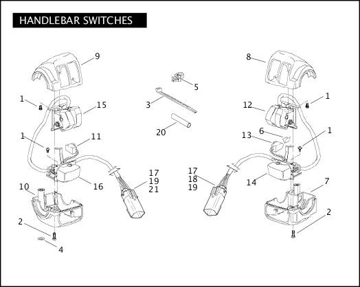 2007 Softail Models Parts Catalog|HANDLEBAR SWITCHES