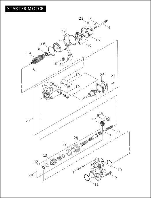 2008 Softail Models Parts Catalog|STARTER MOTOR|Chester