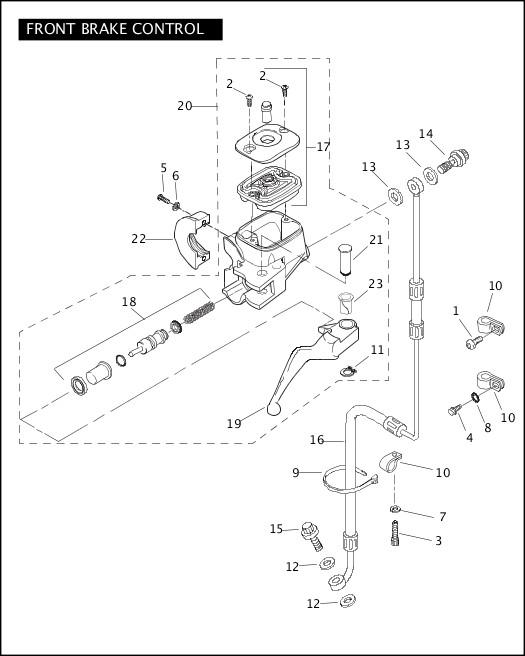 2009 Softail Models Parts Catalog|FRONT BRAKE CONTROL
