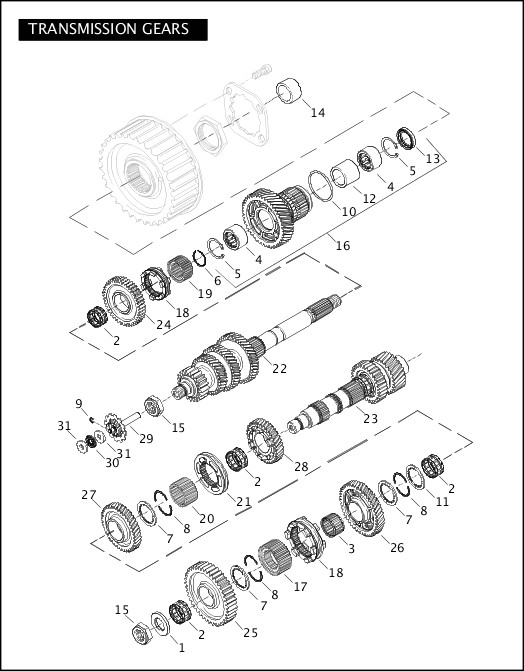 2008 Softail Models Parts Catalog|TRANSMISSION GEARS