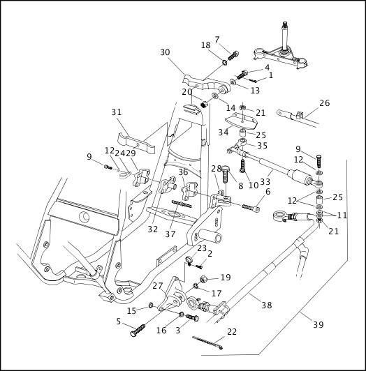 2001 FLT Models Parts Catalog|SIDECAR CONNECTION KIT