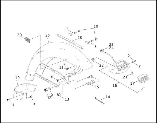2001 FLT Models Parts Catalog|SIDECAR FENDER|Chester