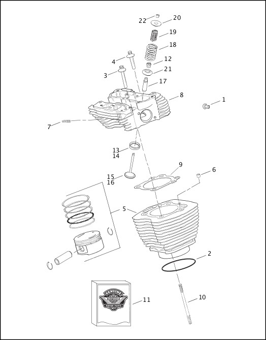 2003 Touring Models Parts Catalog CYLINDERS, HEADS