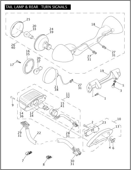 2004 Touring Models Parts Catalog|TAIL LAMP & REAR TURN