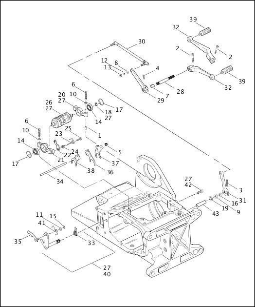 2001 FLT Models Parts Catalog|GEAR SHIFTER (2 OF 2
