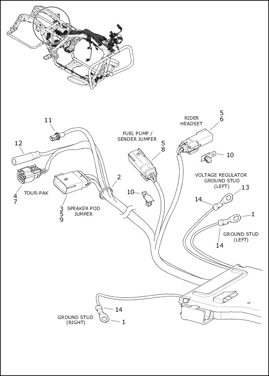 2020 Touring Models Parts Catalog|WIRING HARNESS, MAIN