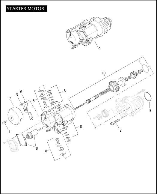 2010 Touring Models Parts Catalog STARTER MOTOR Chester