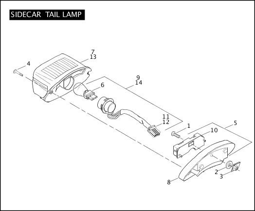 2006 Touring Models Parts Catalog|SIDECAR TAIL LAMP