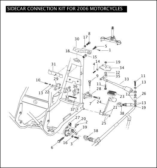2009 Touring Models Parts Catalog|SIDECAR CONNECTION KIT