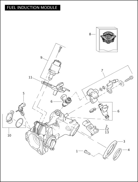 2007 Touring Models Parts Catalog|FUEL INDUCTION MODULE