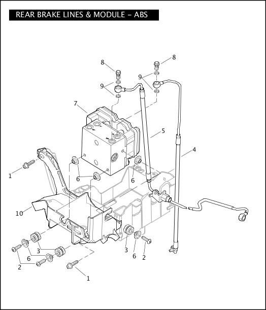 2008 Touring Models Parts Catalog|REAR BRAKE LINES