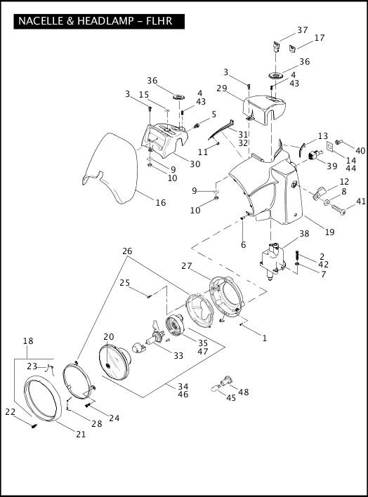 2007 Touring Models Parts Catalog|NACELLE & HEADLAMP