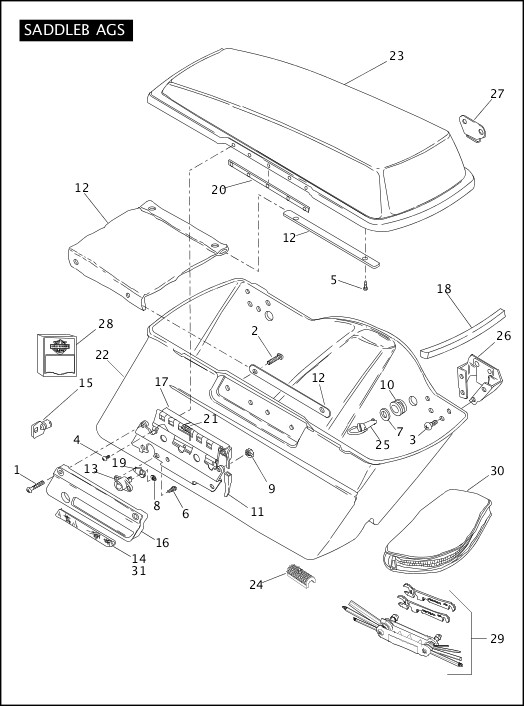 2010 Touring Models Parts Catalog|SADDLEBAGS (2 OF 2