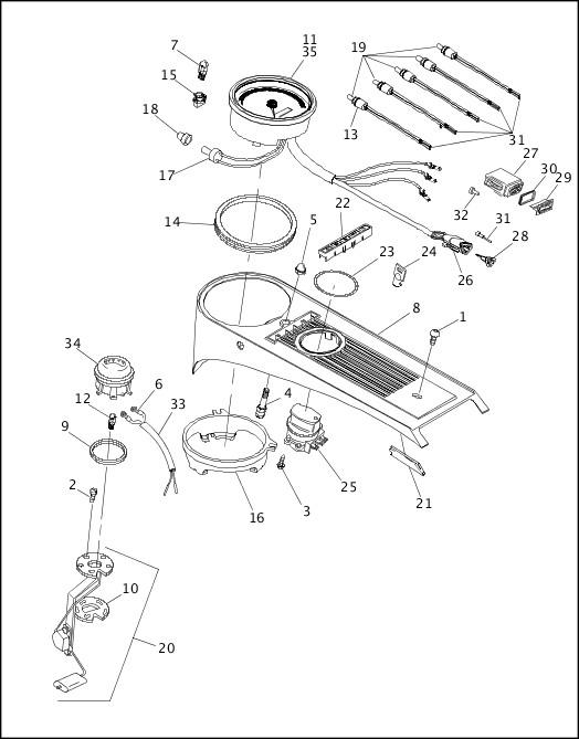 1993-1994 FLT Models Parts Catalog FUEL TANK INSTRUMENTS
