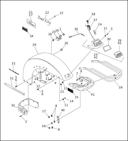 1993-1994 FLT Models Parts Catalog FRONT FENDERS (2 OF 2