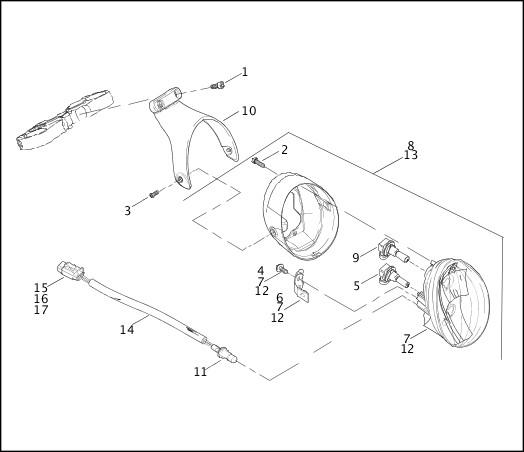 2003 VRSCA Model Parts Catalog|HEADLAMP|Chester Harley