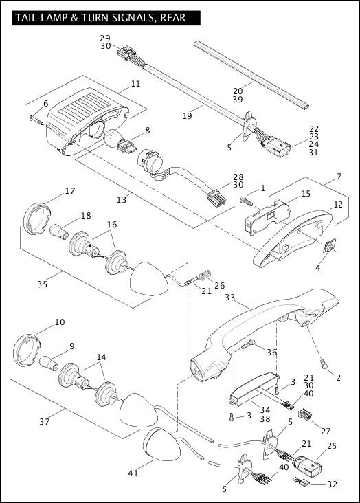 2012 FLSTSE3 Parts Catalog|TAIL LAMP & TURN SIGNALS, REAR