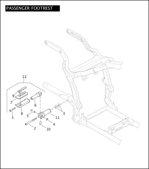 2007 FXSTSSE Parts Catalog|PASSENGER FOOTREST|Chester