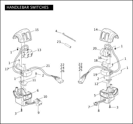2009 Police Models Parts Catalog|HANDLEBAR SWITCHES
