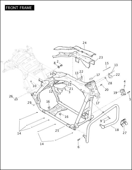 2009 TriGlide Model Parts Catalog|FRONT FRAME|Chester