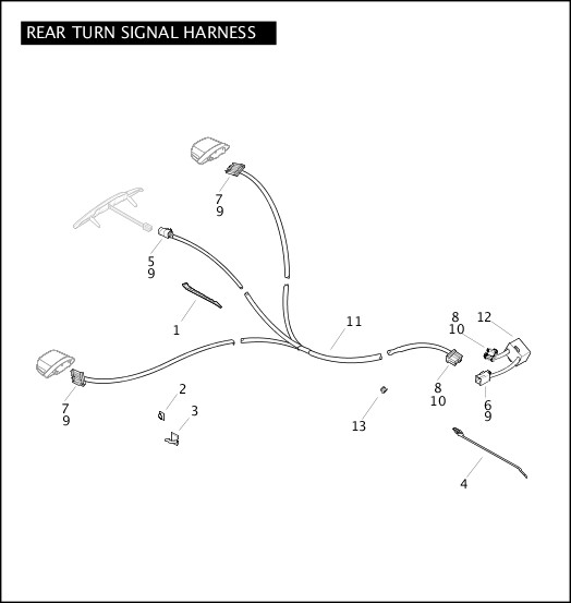 2009 TriGlide Model Parts Catalog REAR TURN SIGNAL HARNESS