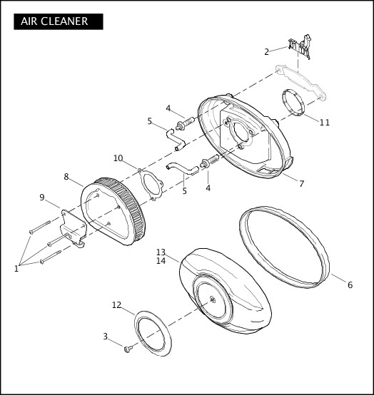 2010 Trike Model Parts Catalog|AIR CLEANER|Chester Harley