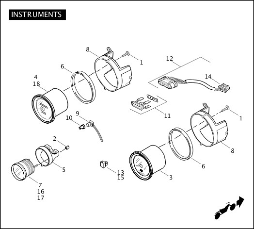 2011 Trike Model Parts Catalog|INSTRUMENTS|Chester Harley