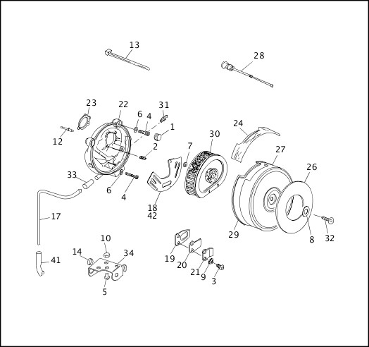 1991-1992 Softail Models Parts Catalog|AIR CLEANER