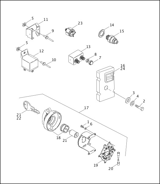 1991-1992 Softail Models Parts Catalog|SWITCHES & CIRCUIT