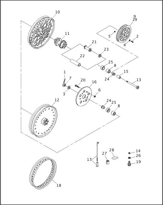 1991-1992 Softail Models Parts Catalog|REAR WHEEL|Chester
