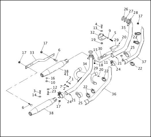 1991-1992 Dyna Models Parts Catalog|EXHAUST SYSTEM|Chester