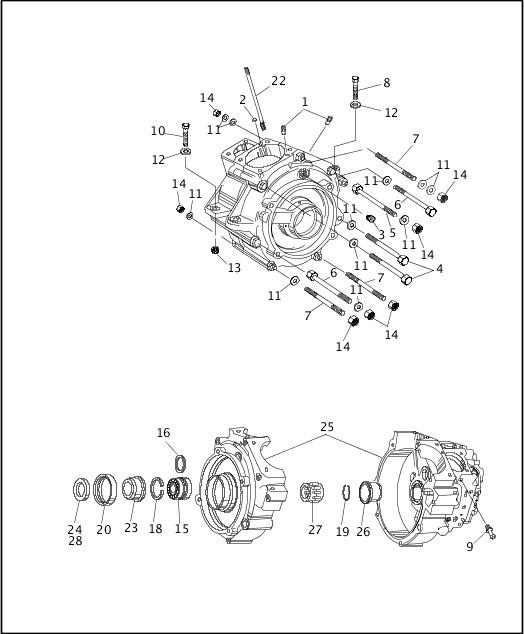 1991-1992 Softail Models Parts Catalog|CRANKCASE (2 OF 2