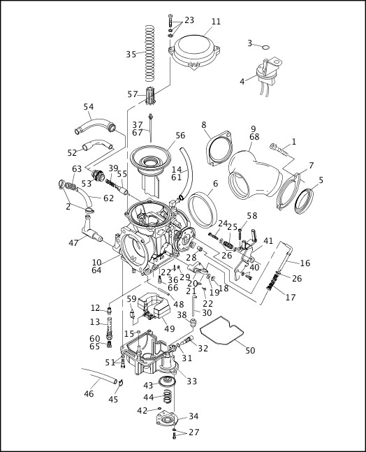 1991-1992 Softail Models Parts Catalog|CARBURETOR (2 OF 2