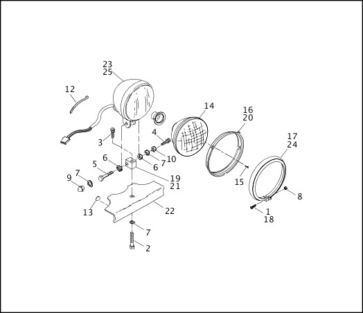 1991-1992 Softail Models Parts Catalog|HEADLAMP|Chester