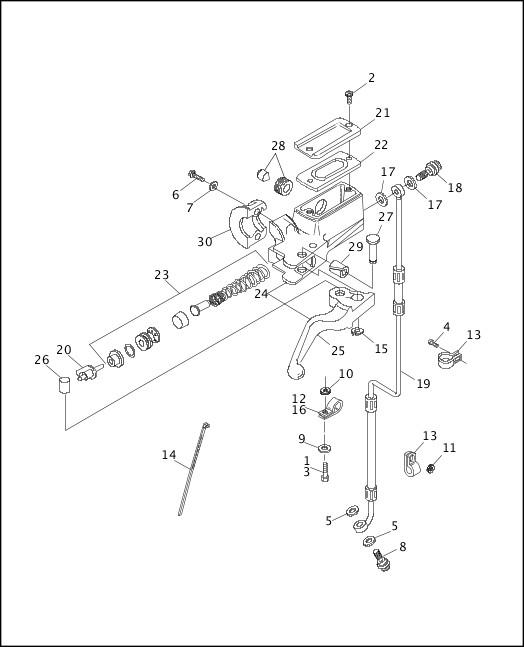 1991-1992 Softail Models Parts Catalog|FRONT BRAKE CONTROL