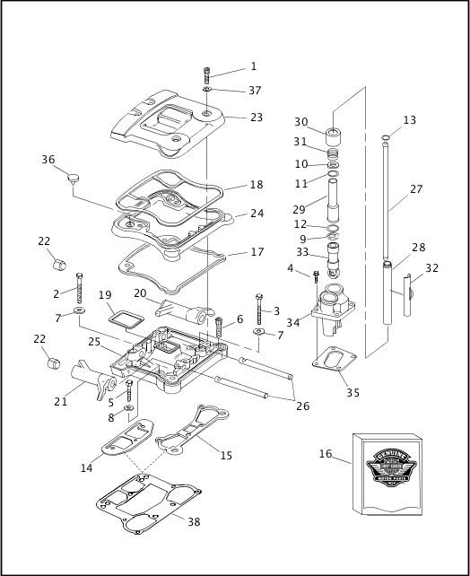 1999 FXR2 Parts Catalog ROCKER ARMS, COVERS & PUSHRODS
