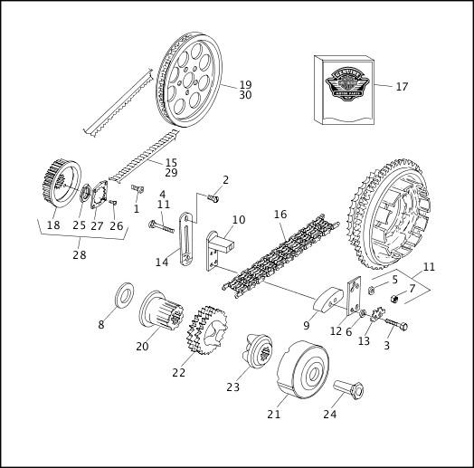 1991-1992 Softail Models Parts Catalog|BELTS, CHAINS