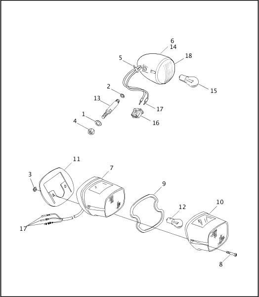 1999 FXR3 Parts Catalog|TAIL LAMP & REAR TURN SIGNALS