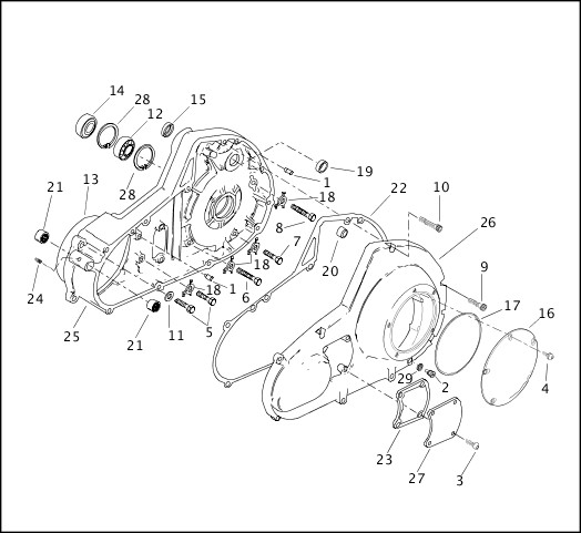 2000 FLTRSEI Parts Catalog|PRIMARY HOUSING|Chester Harley